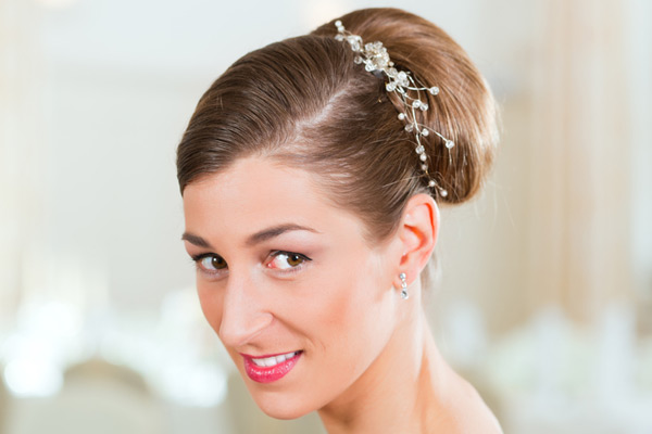 Bridal Hairstyles Bun Front