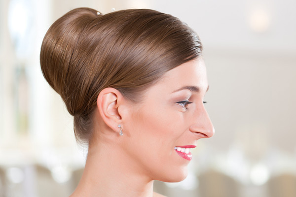 Bridal Hairstyles Bun Profile
