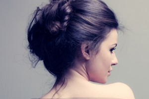 Loose Messy Bun for Curly Hair