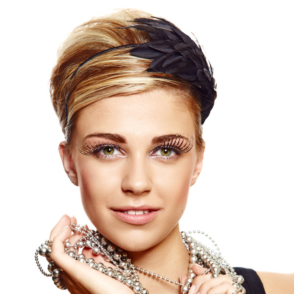 Keep reading for a cute prom hairstyle that features feathers. This ...