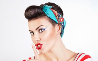 Retro Hairstyles - Updo with bandana