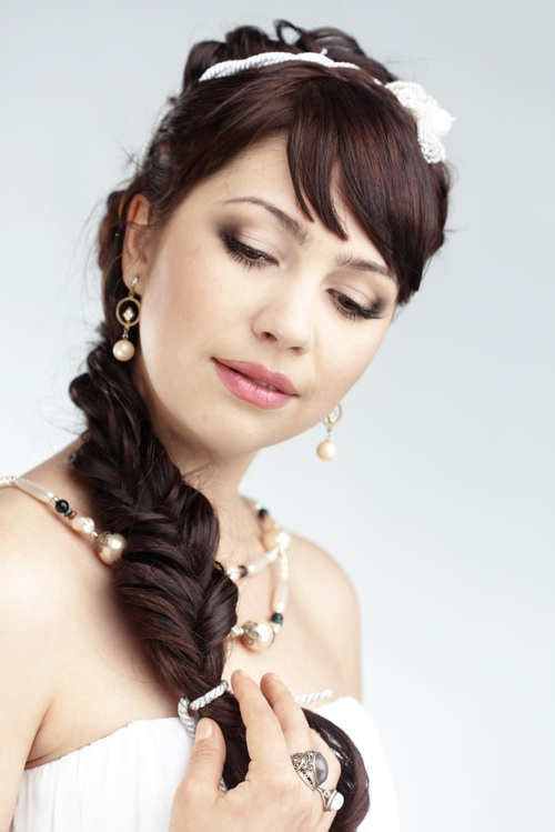 side wedding hairstyles : Wedding Side Braid