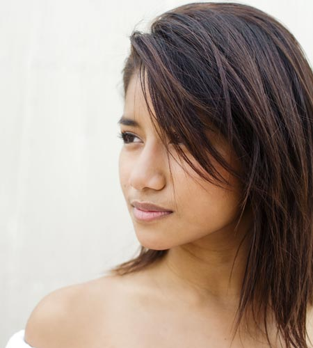 Layered hairstyles for shoulder length hair thick thin these choppy layers are fun and add lots of texture and shape to fine hair the shortest layers are about chin length for some long side swept bangs urmus Gallery
