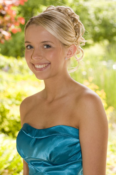 Prom Hairstyles Strapless Dress Curly Updo