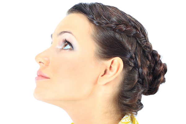 braided bun summer hairstyle
