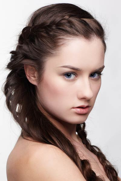crown braid pigtails