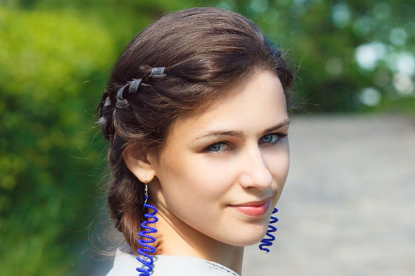cute crown braid ribbon