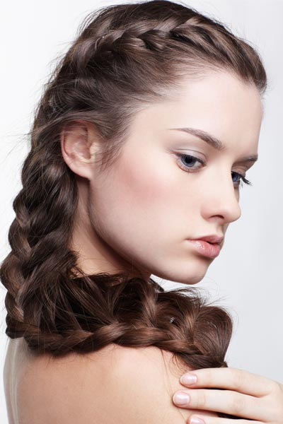 double crown long braid