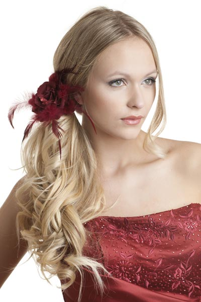 side swept hairstyle : long hairstyles for prom updo Stunning Side Ponytail Updo For Prom ...