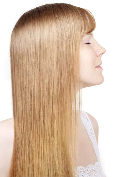 long hair angled haircut