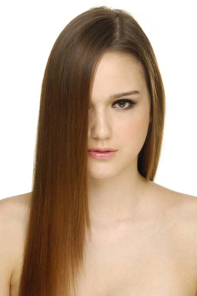 long hair angled hairstyle