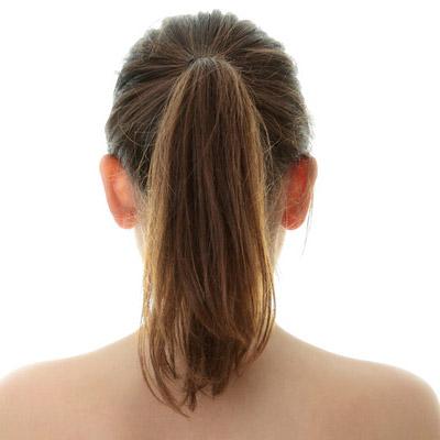 long hair u shaped back ponytail