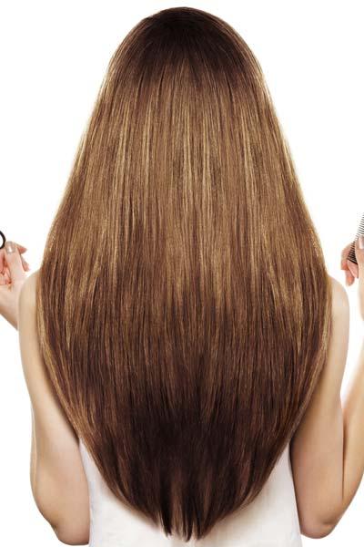 U-Shaped Back Long Hair Haircut - From All Angles