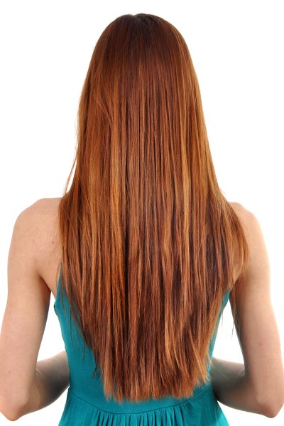 long haircut wide V shape