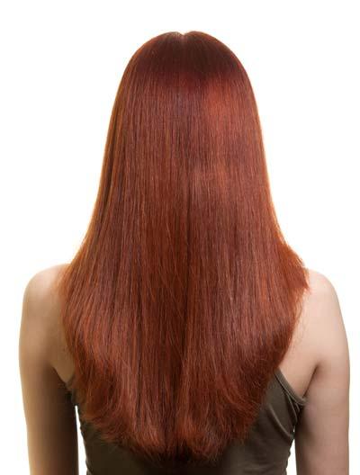 long hairstyles U shape back