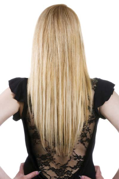 long hairstyles V shape back