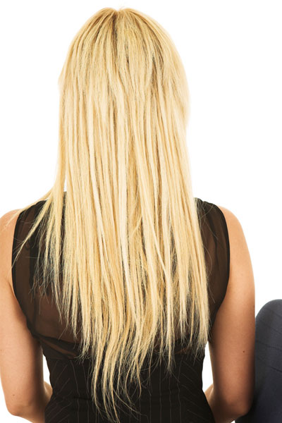long layered V shaped back hairstyle