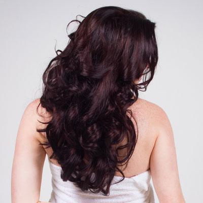 long wavy haircut U shape back