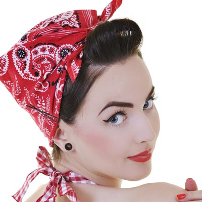 Peachy Rockabilly Bandana Hairstyles Hairstyles For Men Maxibearus