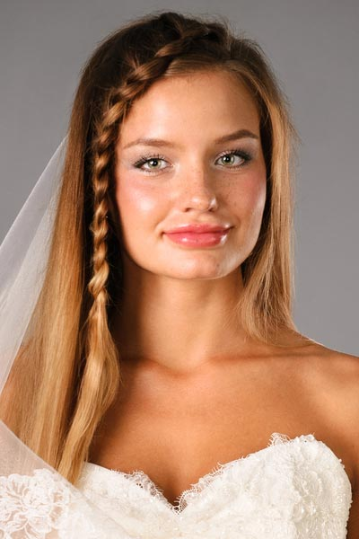 braided bridal hairstyle crown braid