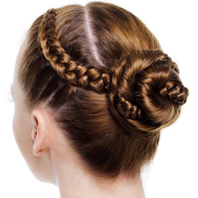 braided bun updo
