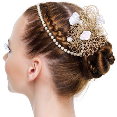 bridal braided bun