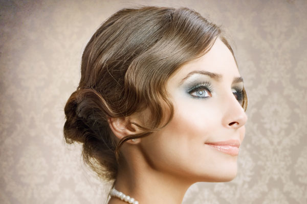 finger waves vintage hairstyle