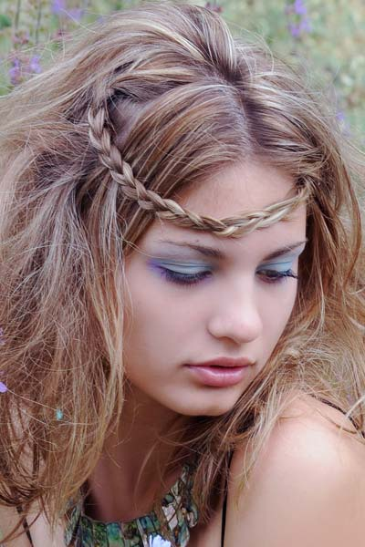 forehead headband braid