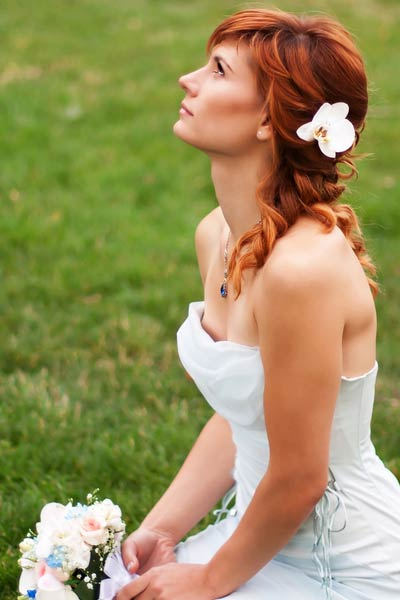 half up wedding hairstyle
