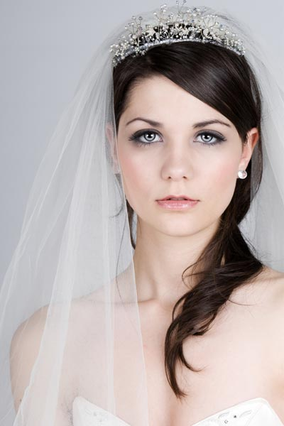 Wedding Hairstyles  Veil on Wedding Hairstyle With Veil And Tiara