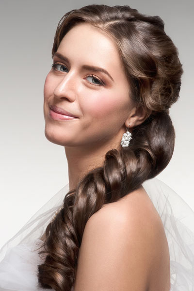 wedding ponytail