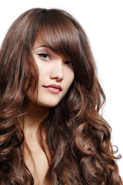 Hairstyles for Wavy Thick Hair – With Bangs