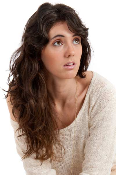 Long Wavy Layered Hair with Bangs