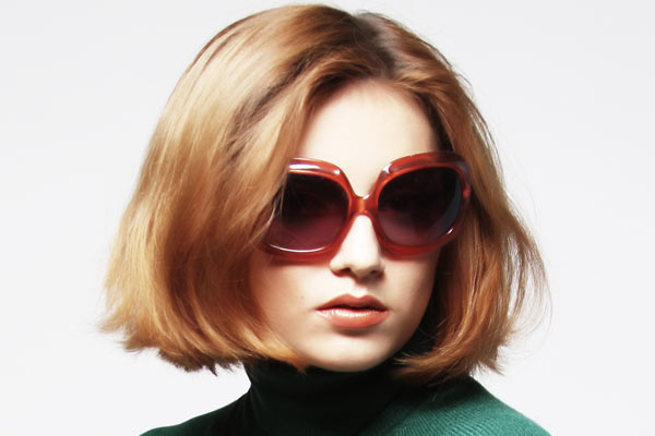 This simple bob cut traight across makes a bold statement. Thick hair ...