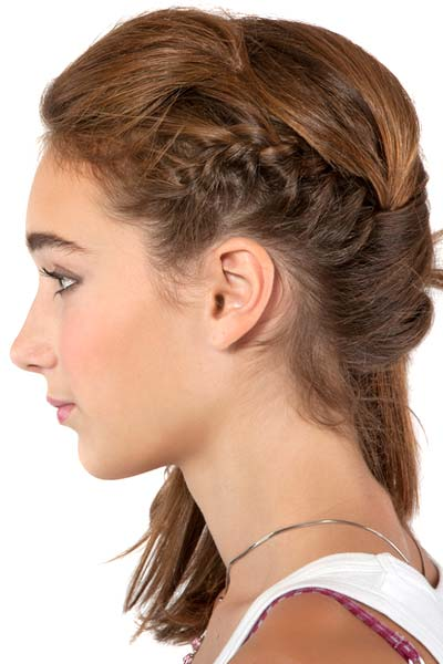 side crown braid