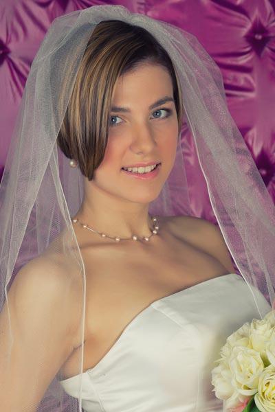 veils for short hair