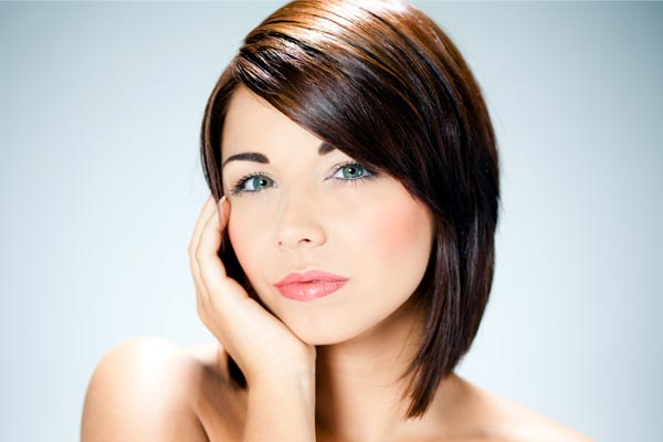 Inverted Bob with Side Swept Bangs