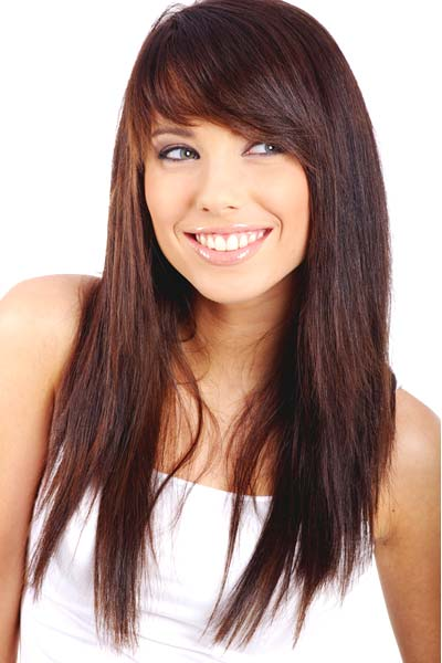 Hairstyles for Long Straight Hair with Side Bangs