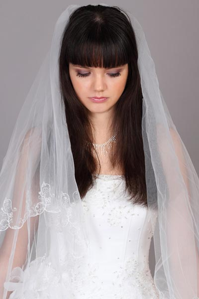 wedding hairstyles for long hair with veil
