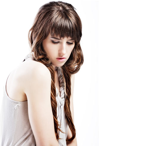 Wearing long hair with short layers is a great option for thick hair ...