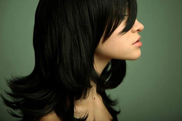 Long Hair Styles With Side Bangs: Long Side Swept Bangs