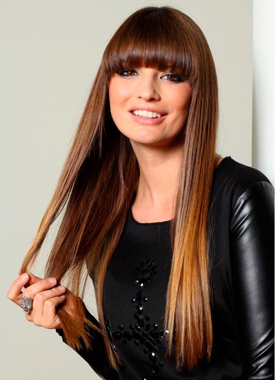 Long Straight Hair with Bangs