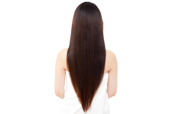 Long V Cut Hair in Back
