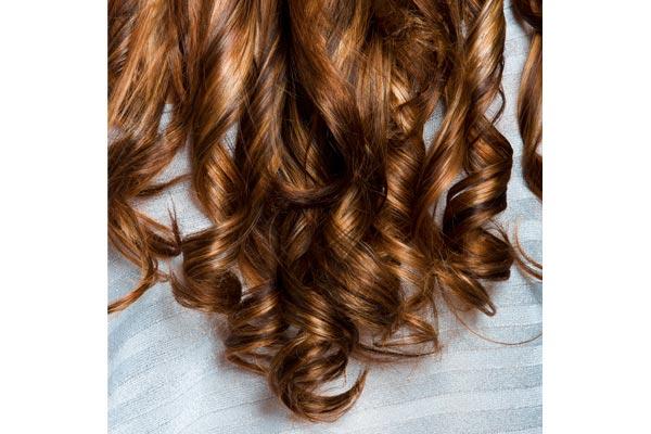V Shaped Curly Hair