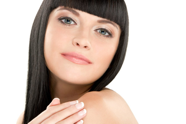 how to cut straight across bangs