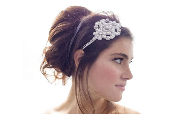 Surprising 6 Pretty Wedding Headbands For 2014 Hairstyles For Women Draintrainus