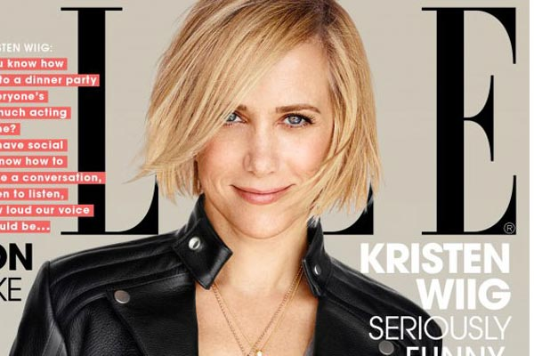 Kristen Wiig's Bob in Elle 2014 Long Haircuts 2014 Trends With Bangs