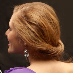 Pretty Bridesmaid Hairstyle with a Twist