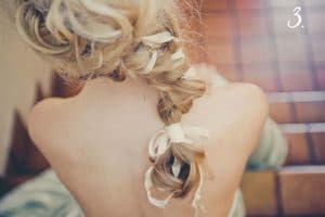 Can I wear a long veil with this braided wedding hairstyle?