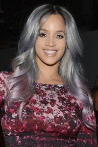 Dascha Polanco's Grey Hair Color with Lavender Ombre